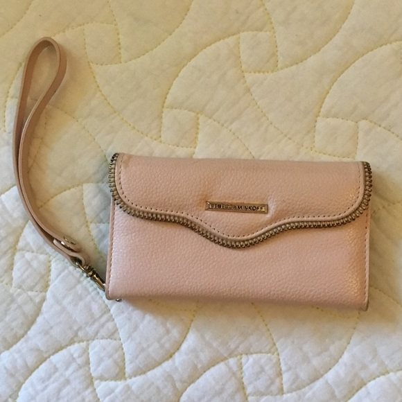 Rebecca Minkoff Pink Wallet/Phone Holder